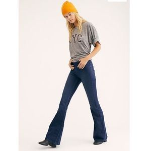 Free People Penny Flare Pull On Jeans